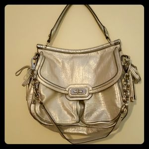 Clearance!! Authentic Coach in Shimmery Gold
